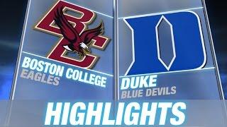 Boston College vs Duke | 2014-15 ACC Men