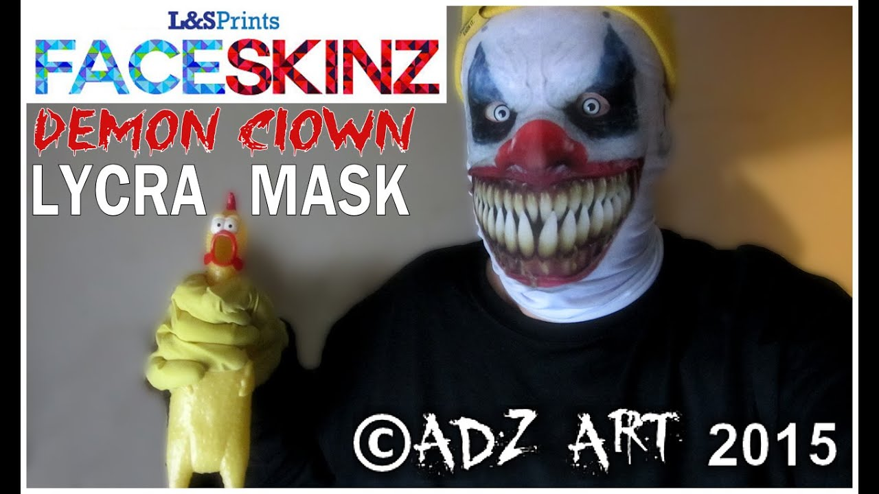 demon clown mask by l u0026s prints youtube