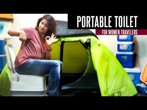 Portable Toilet For Girls, Travellers, Camper and Senior Citizen   Travel Hacks
