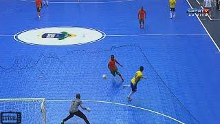 Falcão faz GOLAÇO de CALCANHAR - Brasil x Zâmbia Grand Prix de Futsal 2015 (04/11/2015)
