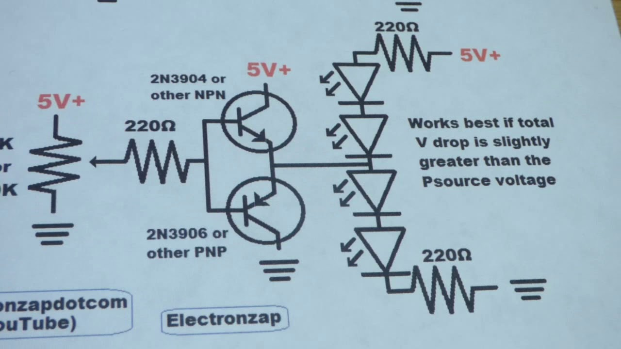 bipolar junction transistor bjt npn 2n3904 and pnp 2n3906 in push pull configuration with diagram [ 1280 x 720 Pixel ]
