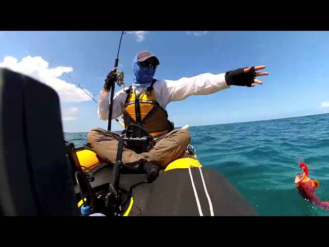 kayak fishing in mauritius with hobie i12s