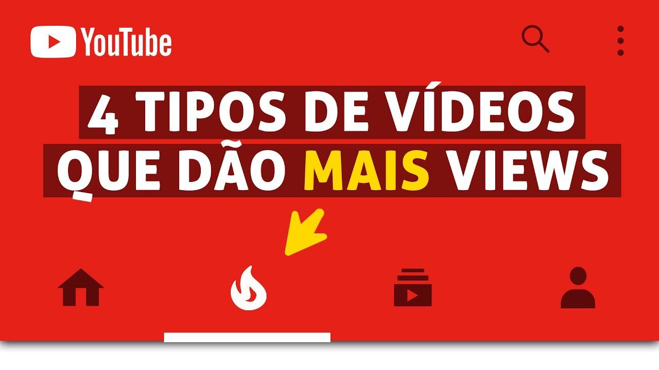 4 tipos de vídeos que dão MAIS VIEWS!