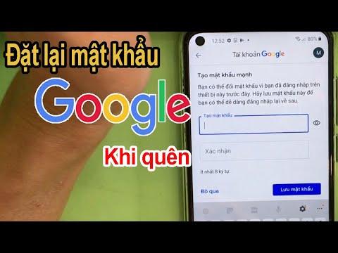cách hack mật khẩu gmail khi biết tài khoản - Cách đặt lại mật khẩu tài khoản Google khi bị quên