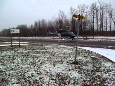 Aspirus MedEvac landing  Hwy 32 Wabeno- Townsend Wisconsin