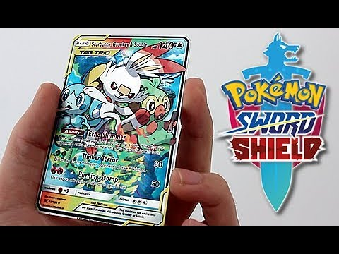 Pokemon Sword & Shield Starter GX Full Art Card
