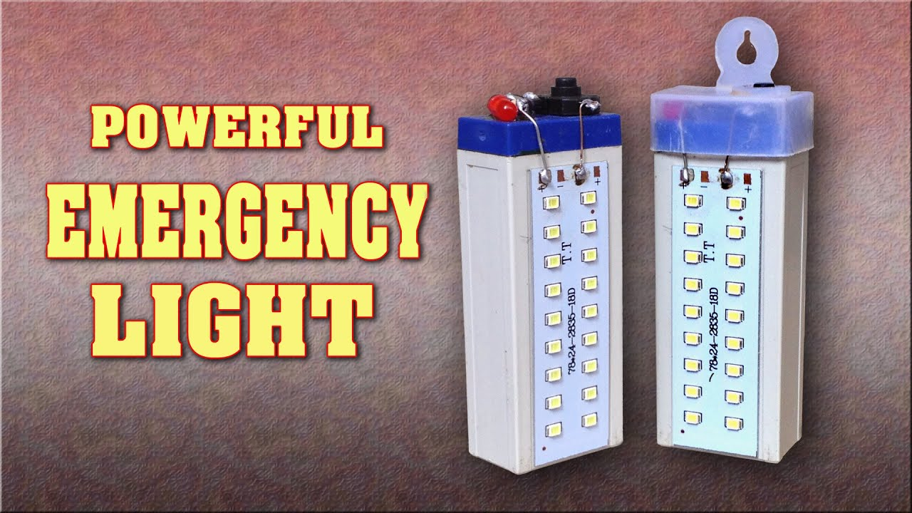 How To Make A Powerful Rechargeable Led Emergency Light At Home Diy Bike Circuit Project Homemade Lamp