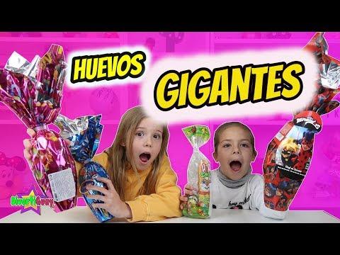 Abriendo HUEVOS DE CHOCOLATE DE PASCUA GIGANTE con REGALOS!! Daniela DivertiGuay