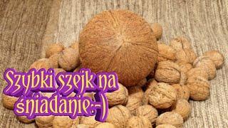 Szybkie śniadanie kokos - orzech włoski
