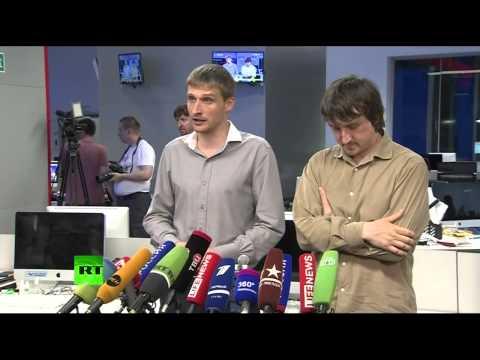 Пресс-конференция освобожденных журналистов