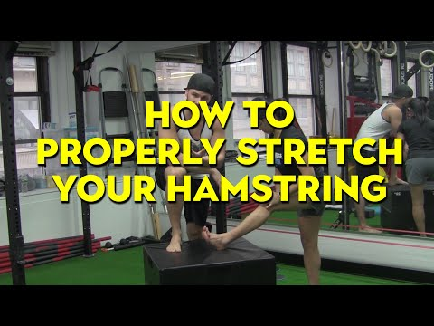 TIGHT HAMSTRINGS? Learn how to properly stretch them  You could be
