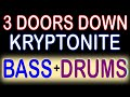 3 Doors Down - Kryptonite (Guitar Backing Track) with Karaoke Lyrics