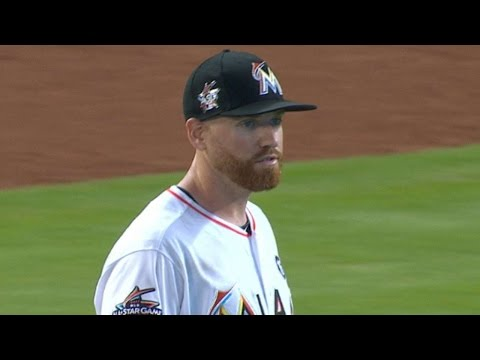 WSH@MIA: Straily fans six in six frames vs. the Nats