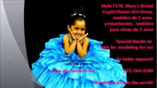 3 Anos Turquoise Dresses, Vestidos de Tres Anos, Little Girls Pageant Dresses by www.abcfashion.net