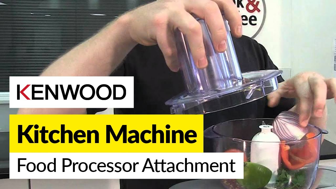 How to use a food processor attachment Kenwood  YouTube