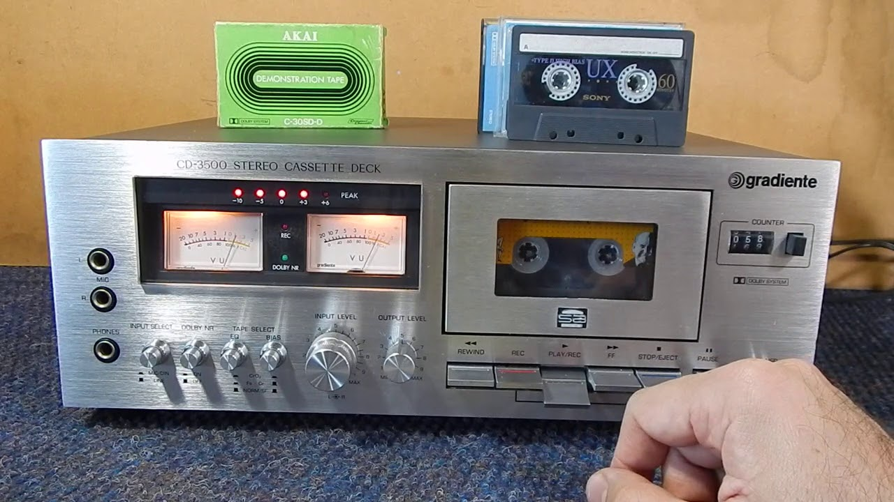 GRADIENTE CD 3500 - TAPE DECK - CASSETE - K7 - [DEMONSTRAÇÃO DE VENDA ]