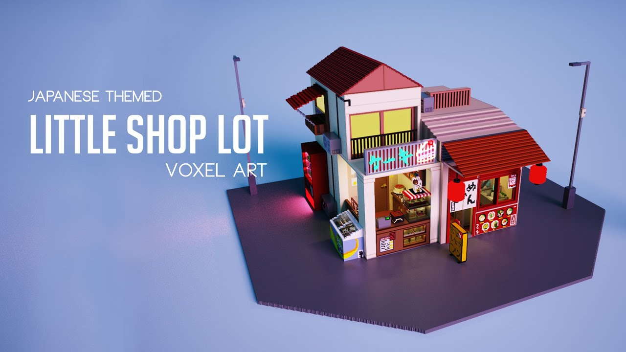 Little Shop Lot | Japanese Themed | Voxel Art