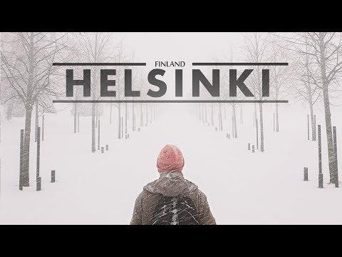 Helsinki - Bufera di neve in città e bagno nel mare ghiacciato