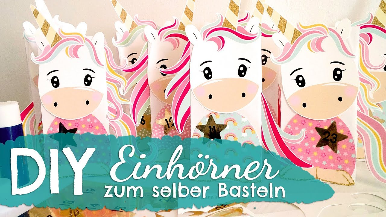 diy einhorn adventskalender zum selber basteln von papierdrachen youtube. Black Bedroom Furniture Sets. Home Design Ideas