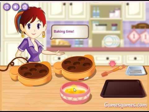 Игры для детей: игры для девочек; приготовление пищи, печенье на палочке