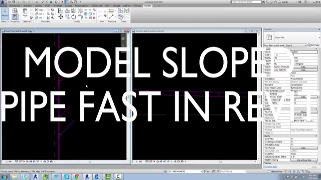 Model Sloped Pipe Fast in Revit - Tips for Speed and Accuracy