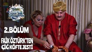 Faik Öztürk'ten dünya güzellerim'e çiğ köfte jesti!