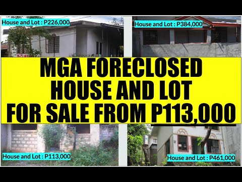 HOUSE And LOT For Sale P113K To P500K From BFS Foreclosed Properties