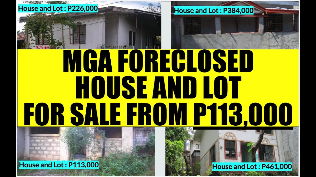 House And Lot For Sale P113k To P500k From Bfs Foreclosed