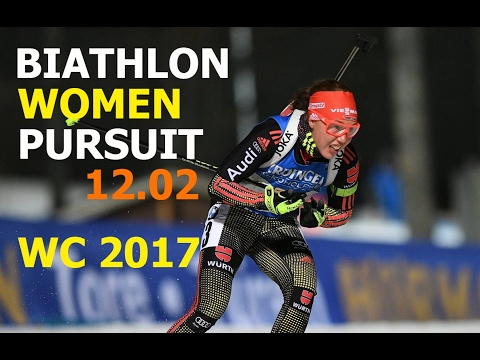 BIATHLON WOMEN PURSUIT 12.02.2017 World Championships Hochfilzen (Austria)
