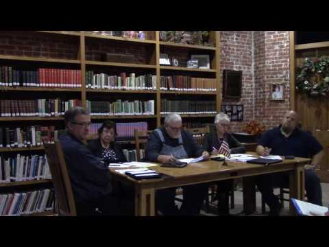 10-20-2016 Camden Town Council Meeting