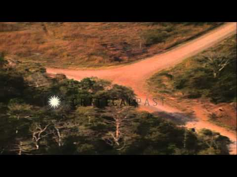 Aerial views of border between Republic of Panama and Panama Canal Zone HD Stock Footage