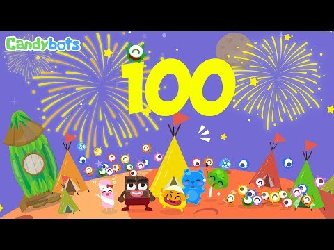 Candybots Numbers 123 - Learn counting 90 to 100 number - Education Apps for Kids