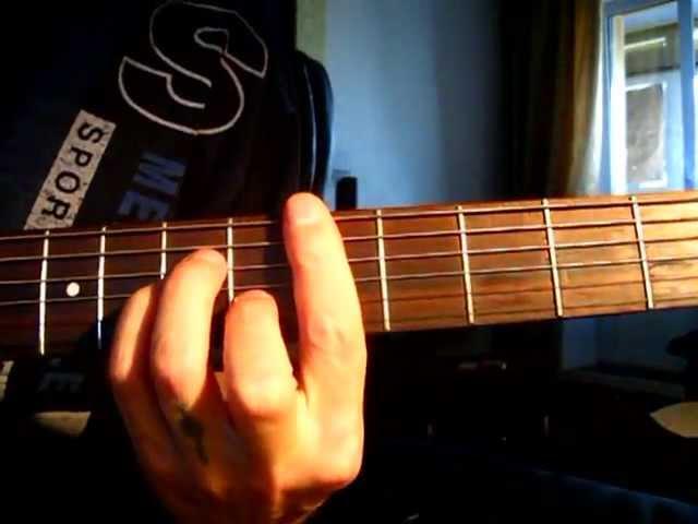 Как играть на гитаре аккорд Dm