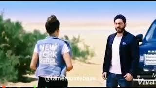 مشهد لتامر حسني و مي عمر من فيلم تصبح على خير