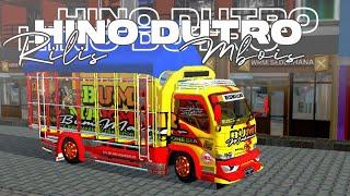 RILIS❗MOD TRUCK HINO DUTRO 02 SANTOSO PUTRA || MOD BUSSID