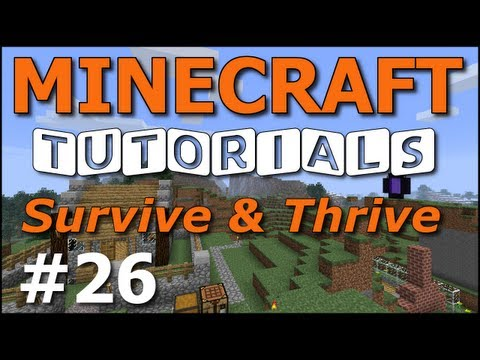 Minecraft Tutorials - E26 Abandoned Mine Shaft (Survive and Thrive II)