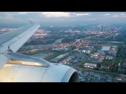 City Views | Air Canada Airbus A320-200 Dusk Arrival at Calgary Airport