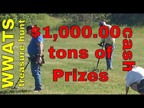 $1,000.00 cash prize plus tons of other prizes at the WWATS treasure hunt this week end