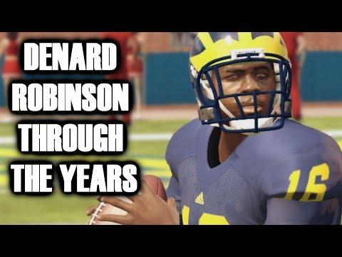 DENARD ROBINSON THROUGH THE YEARS - NCAA FOOTBALL 10 TO MADDEN 18