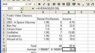 Microsoft Excel Tutorial for Beginners #4 - Functions (Formulas)(Visit MotionTraining at http://www.motiontrainingweb.com. You can download the complete 6-hour Excel Beginner video series (Excel 2003 and Excel 2010) + ..., 2008-04-28T13:28:42.000Z)