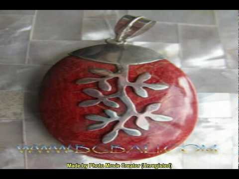 bali silver jewelry pendants design shells coral stones handmade fashion