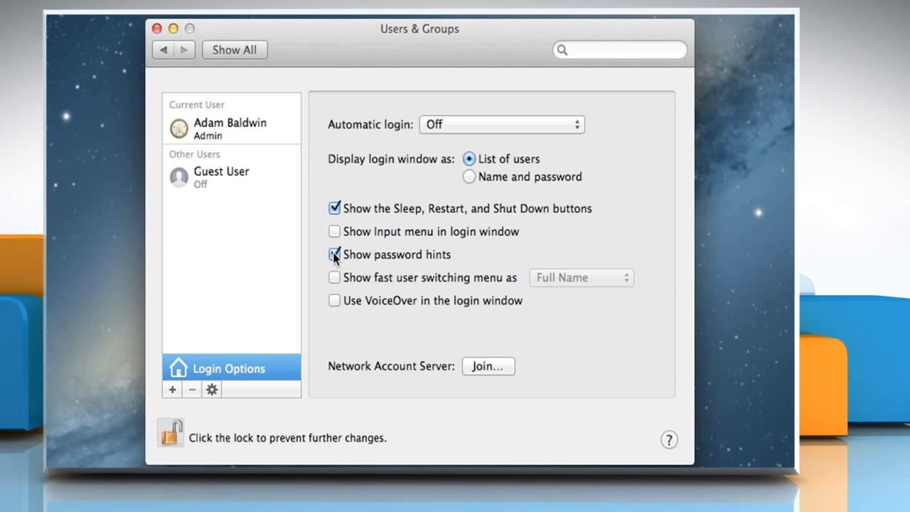 macbook pro password hint