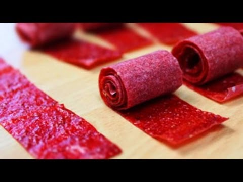 How To Make Home made Fruit Roll Up for Kids