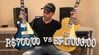 Les Paul de R$17000,00 vs Les Paul R$700,00