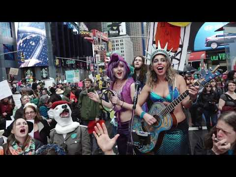 Liah Alonso & The Liberty Singers - Wild Seeds @ The March For Science NYC in Times Square