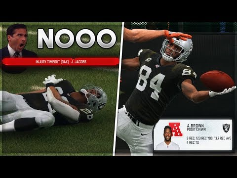 ab's-record-debut-+-huge-injury-to-1st-round-pick!- -madden-20-raiders-franchise-mode- -ep.-2