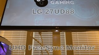 a newb review of lg 27ud88 w 27 4k uhd ips freesync monitor 3840 x 2160 with usb type c
