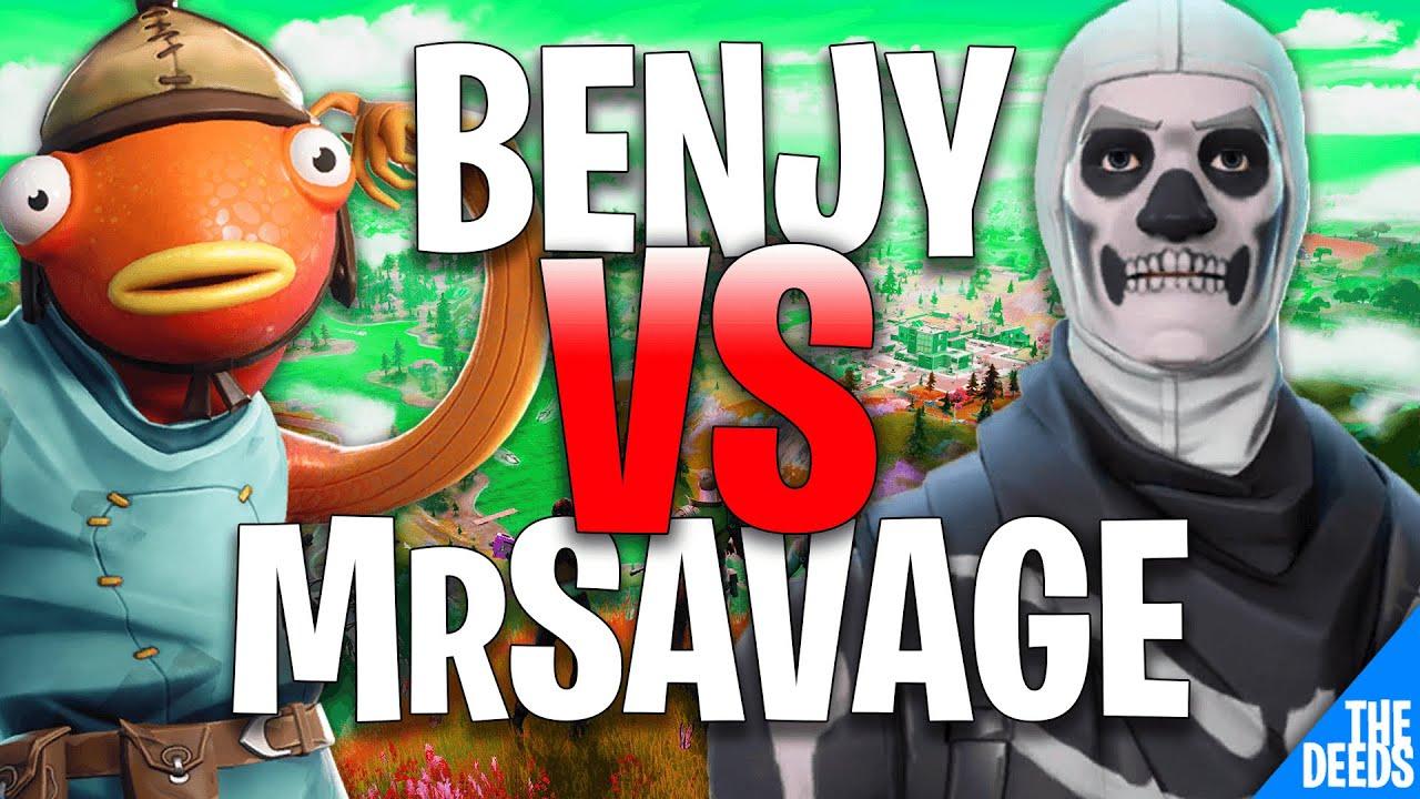 NRG Benjyfishy 1 VS 1 100TMrSavage | Creative 1v1 *NRG VS 100T Build Fights*