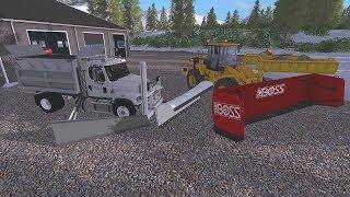 Farming Simulator 17 #11 Multiplayer Snow Plowing