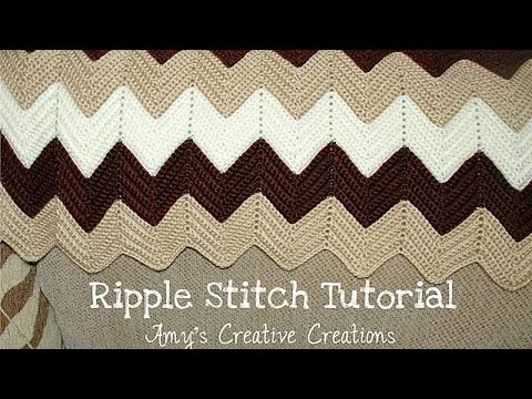 Crochet Ripple Stitch Afghan Tutorial - Crochet Jewel - YouTube